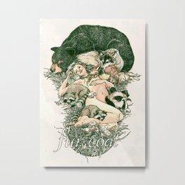 Fur Coat Metal Print