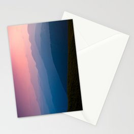 Pink & Blue Mountains Stationery Cards