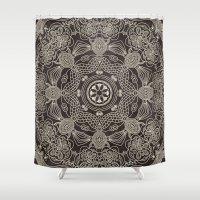 spiritual Shower Curtains featuring Spiritual Mantra by Diego Tirigall