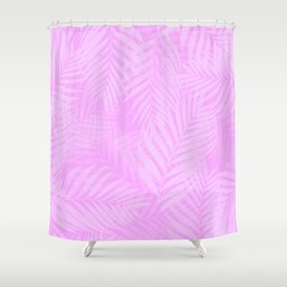 Palm Leaves - Orchid Pink Shower Curtain