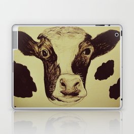 Go Vegan Now - Save Me And My Children Cow Mom Laptop & iPad Skin