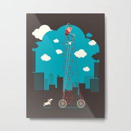 Tall Bike Metal Print