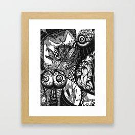 Birth Scarification Framed Art Print