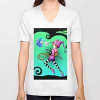 fairytale V-neck T-shirts featuring Fairytale by Voodoo Dolly
