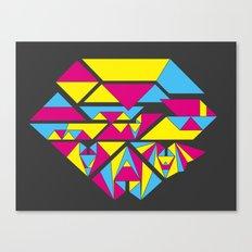 Bat origami Canvas Print
