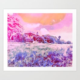 In A Field Of Roses She Is A Wild Flower Art Print