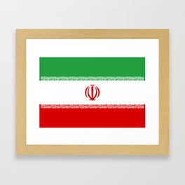 National flag of the Islamic Republic of Iran - Authentic version Framed Art Print