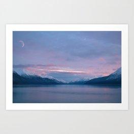 Alaska Moon Art Print