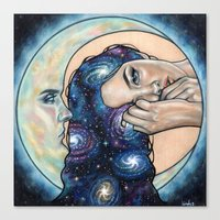 celestial Canvas Prints featuring Celestial  by Wendy Ortiz