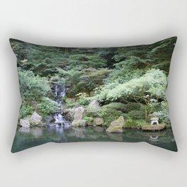 Japanese Garden Calmness Rectangular Pillow
