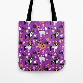 Boston Terrier Halloween - dog, dogs, dog breed, dog costume, cosplay cute dog Tote Bag