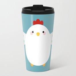 White Chicken Travel Mug