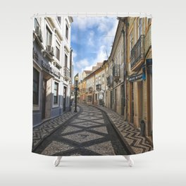 Streets of Aveiro Shower Curtain