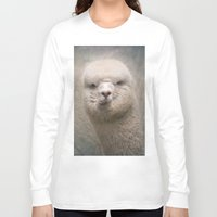 alpaca Long Sleeve T-shirts featuring Alpaca! by Pauline Fowler ( Polly470 )