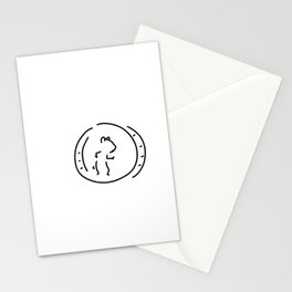 hamster pinch hamster's wheel Stationery Cards