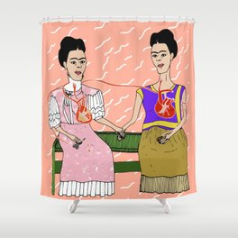The Two Fridas Shower Curtain