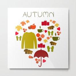 Love autumn Metal Print