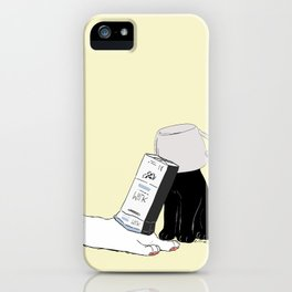 Your Yellow Quirky Cats  iPhone Case