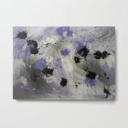 Purple Splash Metal Print