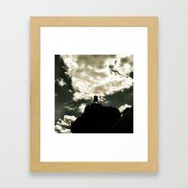 watertower at dusk Framed Art Print