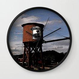 1880 Train Watertower Black Hills Abstract Wall Clock