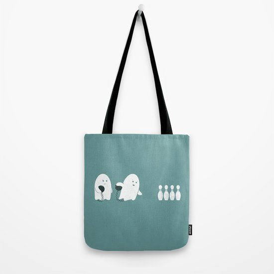 Bowling Ghost Tote Bag