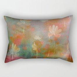 Painterly Autumn Floral Abstract Rectangular Pillow