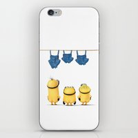 minions iPhone & iPod Skins featuring MINIONS LIFE: TOO HOT by Ylenia Pizzetti