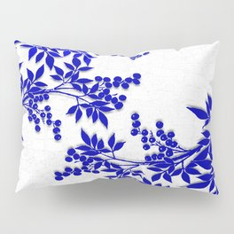 BLUE AND WHITE  TOILE LEAF Pillow Sham