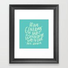 Pete Seeger Framed Art Print