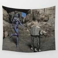 sci fi Wall Tapestries featuring Sci-Fi Fantasy  by gypsykissphotography