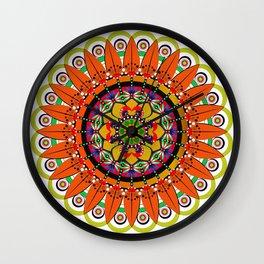 Mandala Sunflower Wall Clock