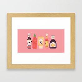 Ex-Condiments Framed Art Print