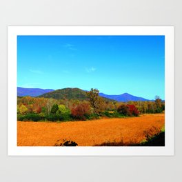 October Crop Art Print