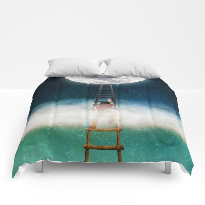 Reach for the Moon Comforters