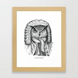Owl Be Bach Framed Art Print