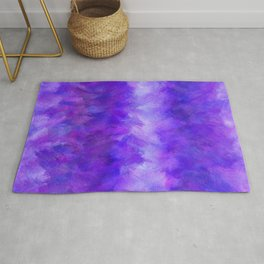 Dappled Blue Violet Abstract Rug