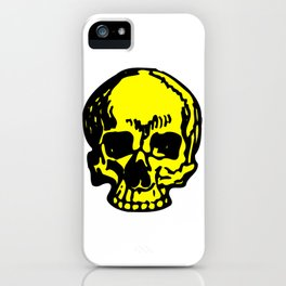 Yellow Pirate Skull, Vibrant Skull, Super Smooth Super Sharp 9000px x 11250px PNG iPhone Case