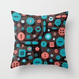 button it Throw Pillow