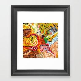 colored flow Framed Art Print