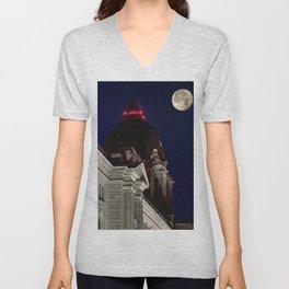 October Super Moon Unisex V-Neck