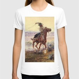 """""""On the Pond"""" by Charles M Russell T-shirt"""