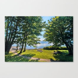 Summertime Park Canvas Print