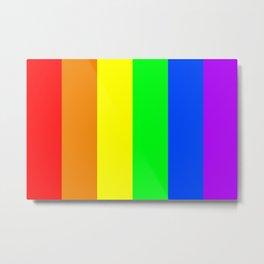 Rainbow flag - Vertical Stripes version Metal Print