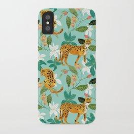 Cheetah Jungle #illustration #pattern iPhone Case