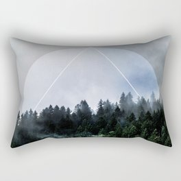 Foggy Woods 3X Rectangular Pillow