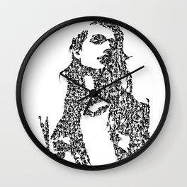 Kanji Calligraphy Art :woman's face #37 Wall Clock