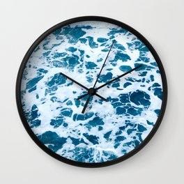 oscean marble - photograohy light blue Wall Clock