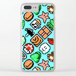 Super Mario Bros. 3 pattern   blue sky Clear iPhone Case