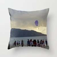 thailand Throw Pillows featuring Thailand Sunset by ENGINEMAN - JOSEPHAMT
